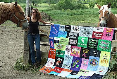 Horses and T-shirt quilts