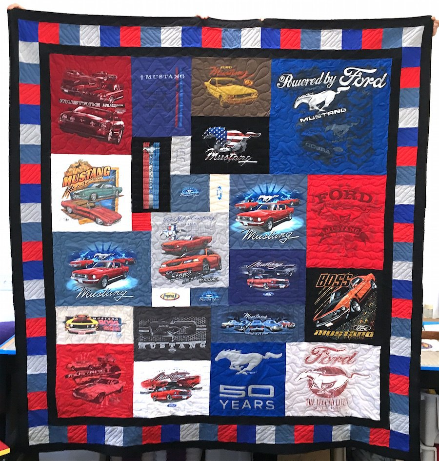 Ford Mustang T-shirt Quilt