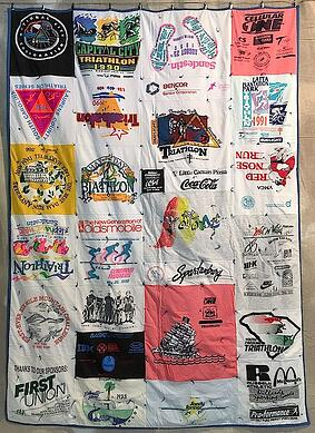 My first T-shirt quilt