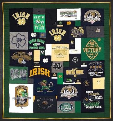 Cool Notre Dame T-shirt quilt