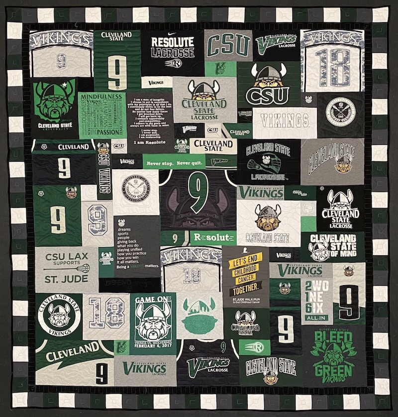 Graduation T-shirt quilt by Too Cool T-shirt Quilts