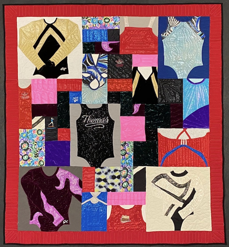 gymnastics clothing quilt by Too Cool T-shirt Quilts