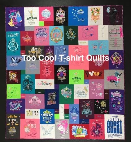 runDisney T-shirt quilt
