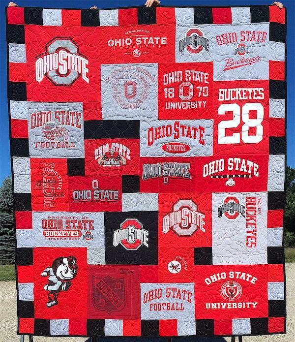 Ohio State T-shirt Quilt