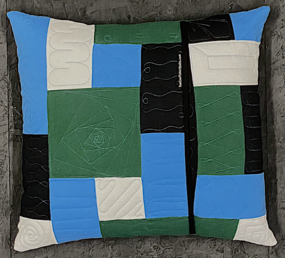 One T-shirt pillow back - Tulane Too Cool T-shirt Quilts