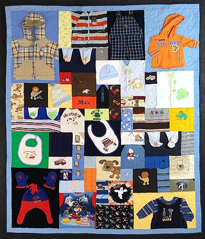 baby Outfits made into a quilt