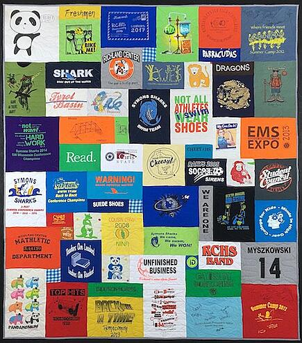 Panda T-shirt Quilt by Too Cool T-shirt Quilts