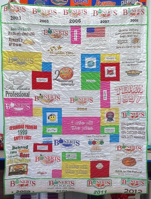 Bonerts Pie T-shirt quilt