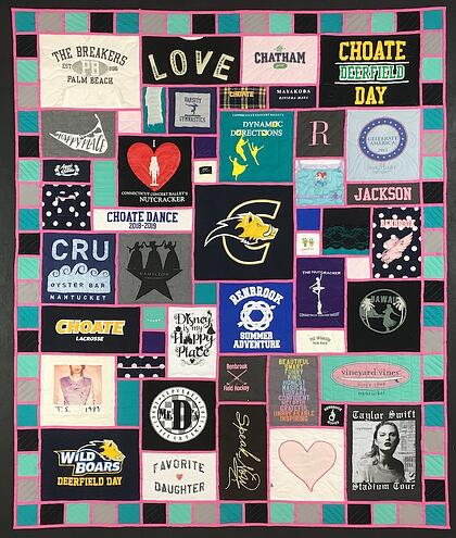 Pink Stained Glass T-shirt quilt - Too Cool!