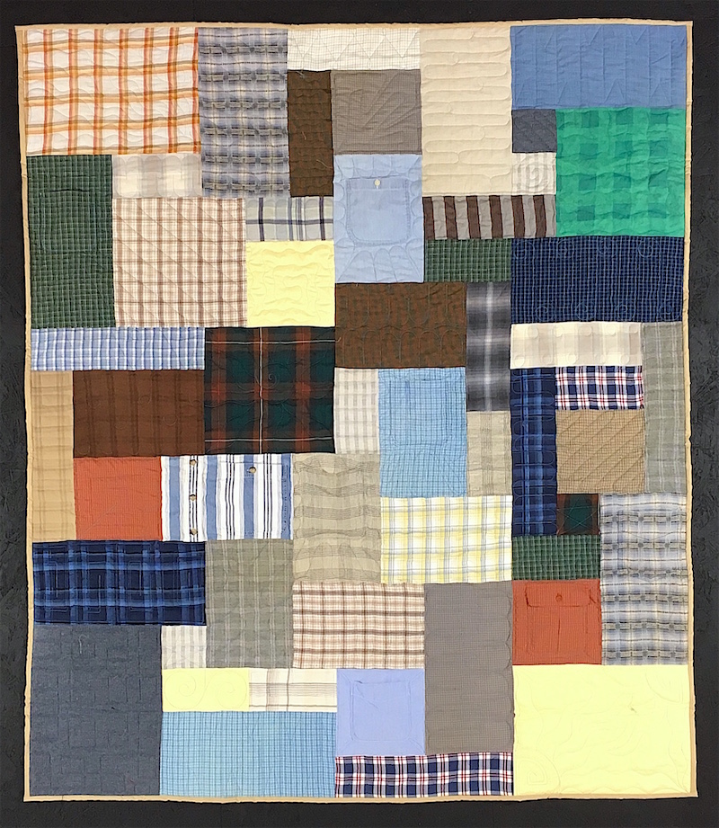 Quilt made from plaid shirts