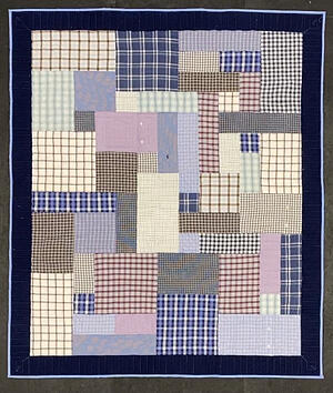 quilt made from plaid dress shirts