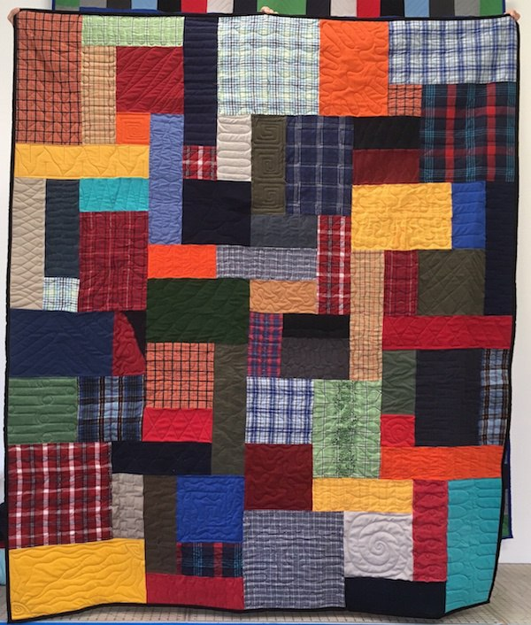 Plaid shirts mixed with solid color shirts