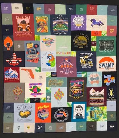 Pocket Border T-shirt Quilt