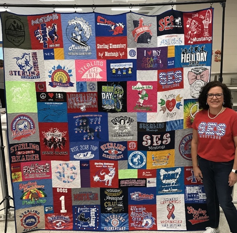 Principal Memories - a T-shirt quilt makes a great retirement gift!