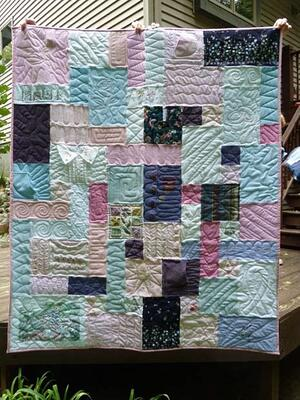 Quilt Made from Grandmas Clothing