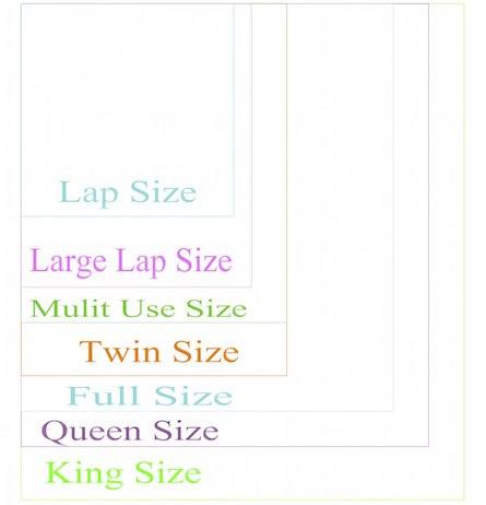 Standard T-shirt quilt sizes