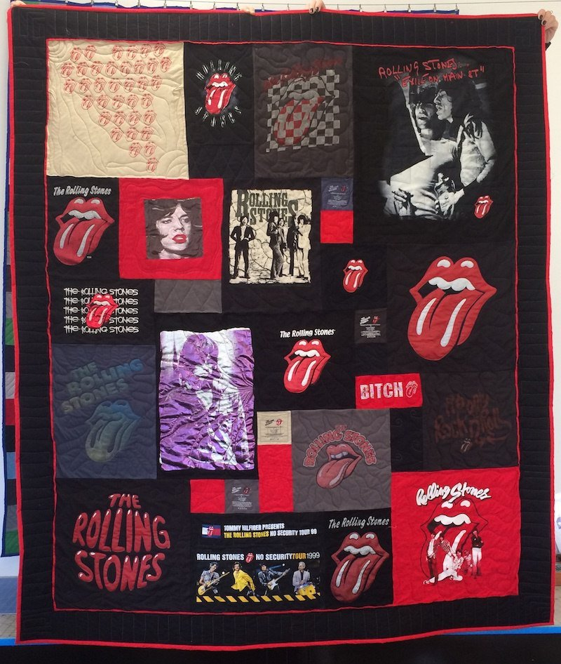 Rolling Stone T-shirt Quilt