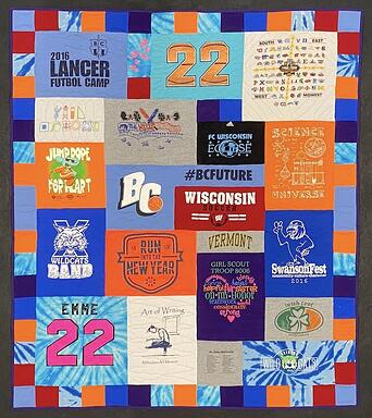 Sept quilt 9T-shirt quilt by Too Cool T-shirt quilts