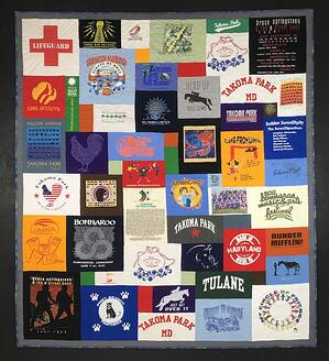 "A ""Life is my life"" T-shirt quilt"