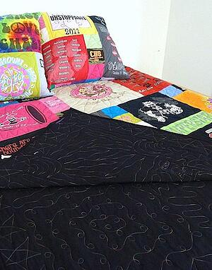 graduation pillows and quilt