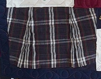 School Uniform Skirts can be used in a quilt or T-shirt quilt.