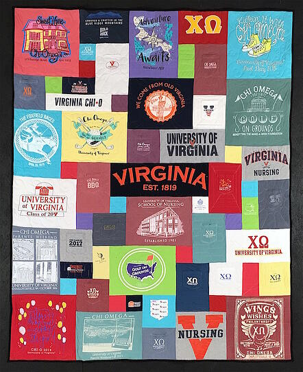 Sorority T-shirt Quilts with pockets