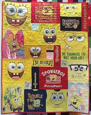 SpongeBob t-shirt quilt