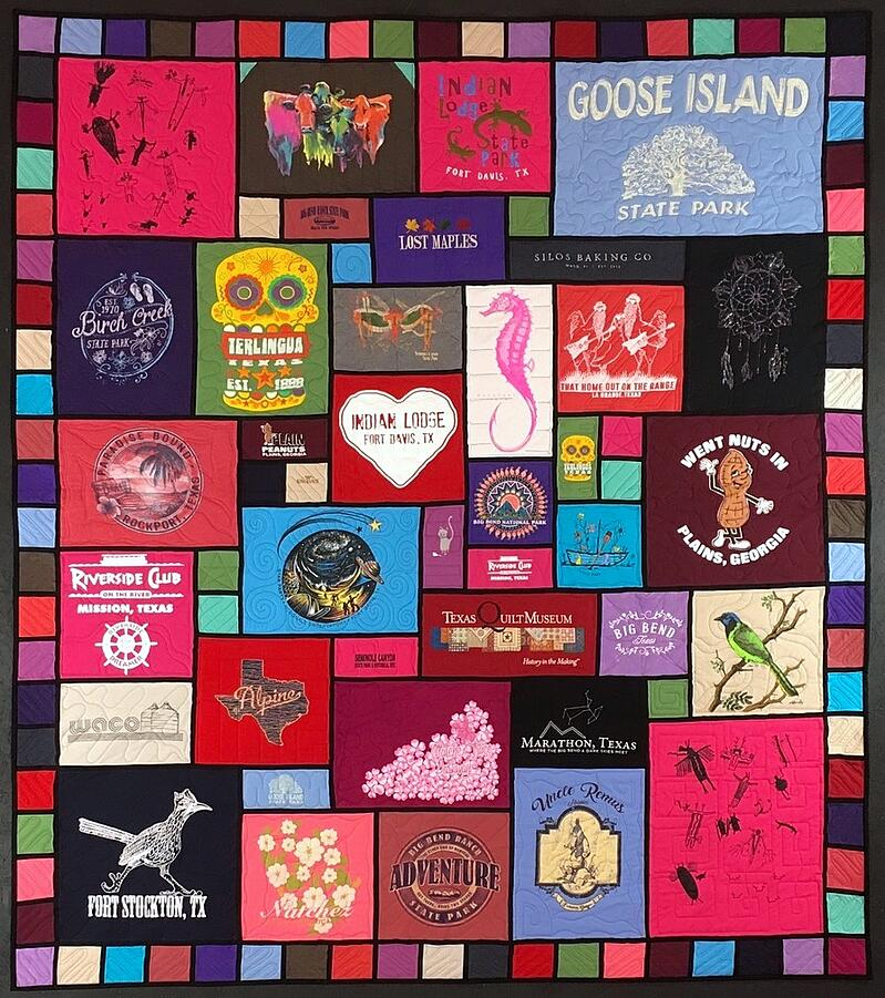 The first stained glass T-shirt quilt