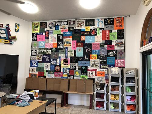 State of Michigan quilt in the Too Cool T-shirt Quilt shop