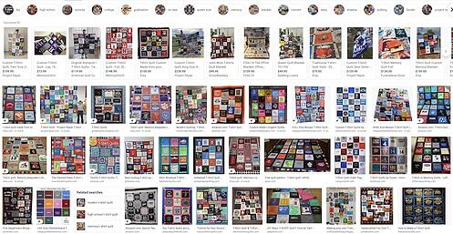 T-shirt quilts on the internet