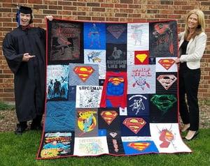 The best graduation quilt photo!