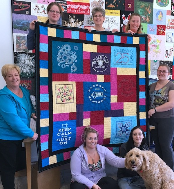 The gang here at Too Cool T-shirt quilt