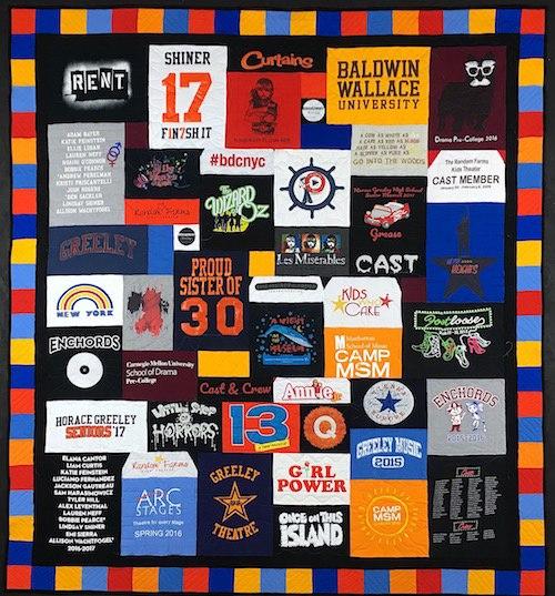 Theatre T-shirt Quilt