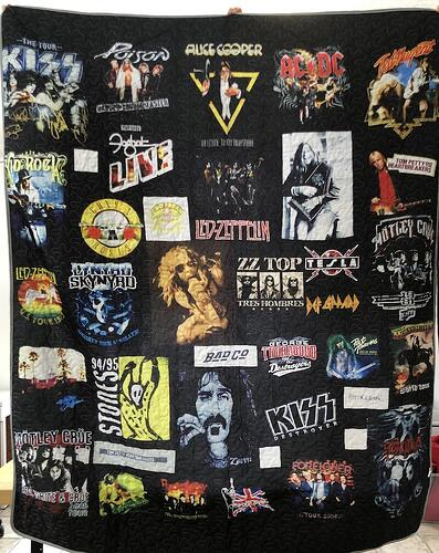"This is a image of a quilt that stole our image from our website and created a ""quilt"" Damn Thief!!"