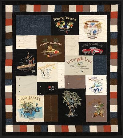 Tommy Bahama T-shirt Quilt