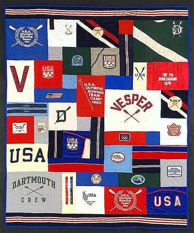USA Rowing T-shirt Quilt