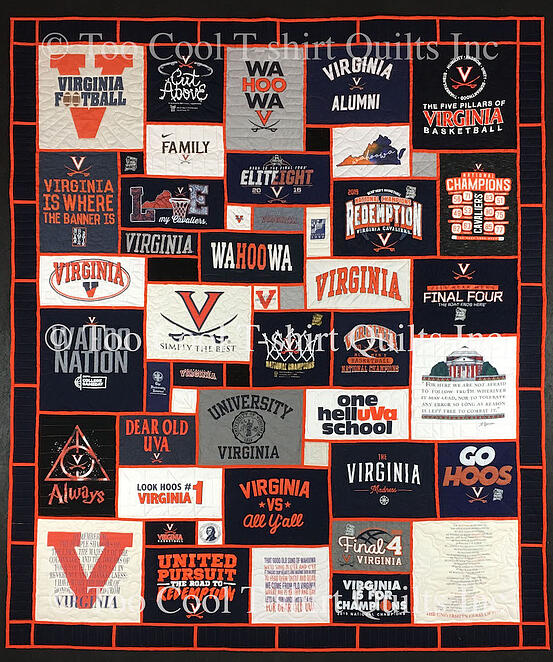 UVA stained glass T-shirt quilt