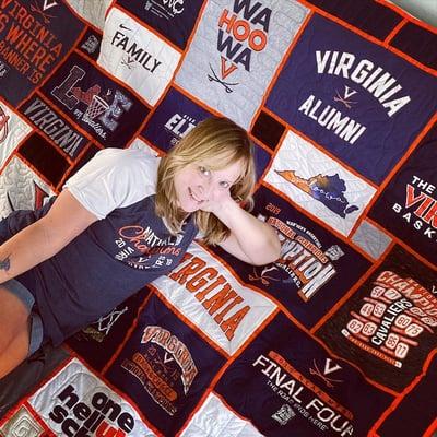 UVA T-shirt quilt