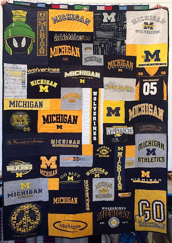 University Of Michigan T-shirt Quilt