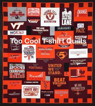 VT T-shirt quilt
