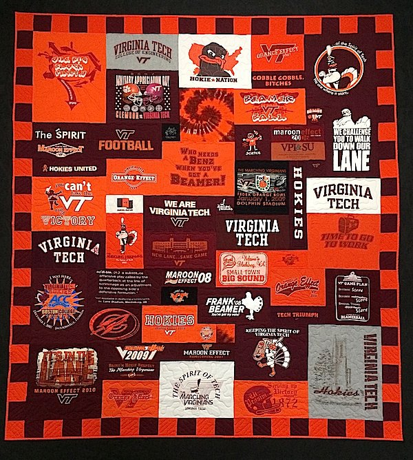 Virginia Tech T-shirt Quilt