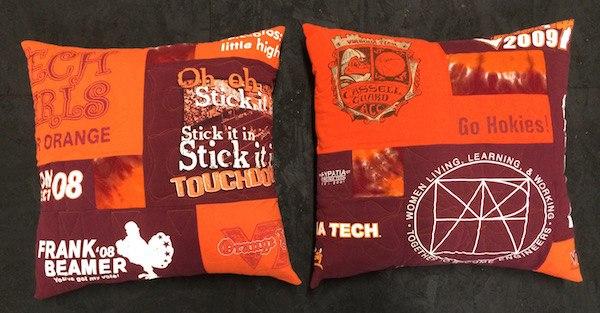 VT T-shirt pillows