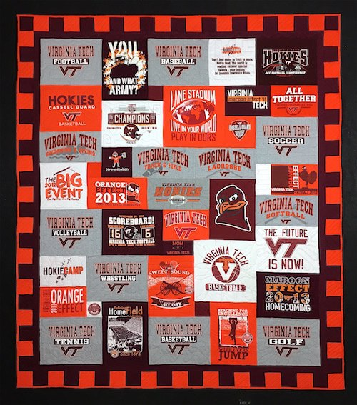 Virginia Tech T-shirt Quilt