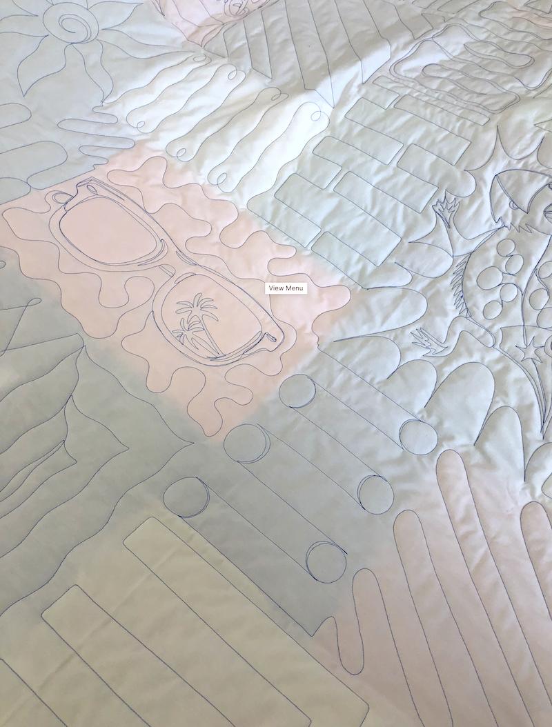 White backing fabric