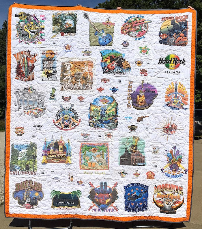 Hard Rock Cafe T-shirt quilt