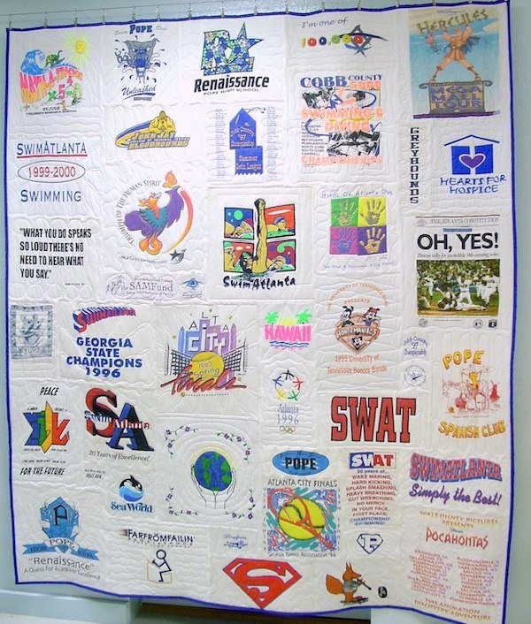 Swimming T-shirt quilt all white