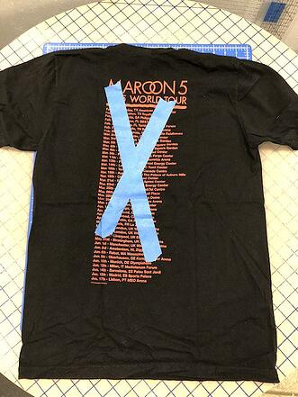 This is an example of how to X out graphics on your T-shirts that you do not want in your quilt.