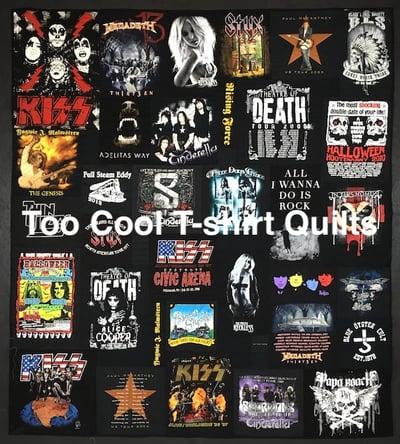 all black band concert T-shirt quilt.