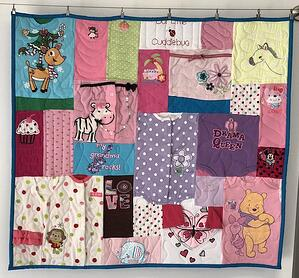 baby clothes mini quilt size 36 x 36 inches