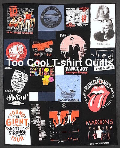 Rock Band concert T-shirt quilt